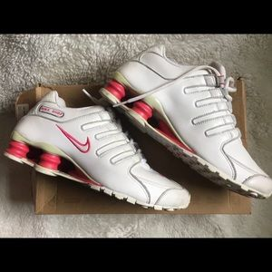 Nike Shox women's sneakers white & hot pink